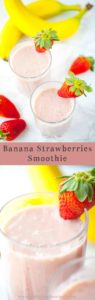 fresh banana strawberry smoothie