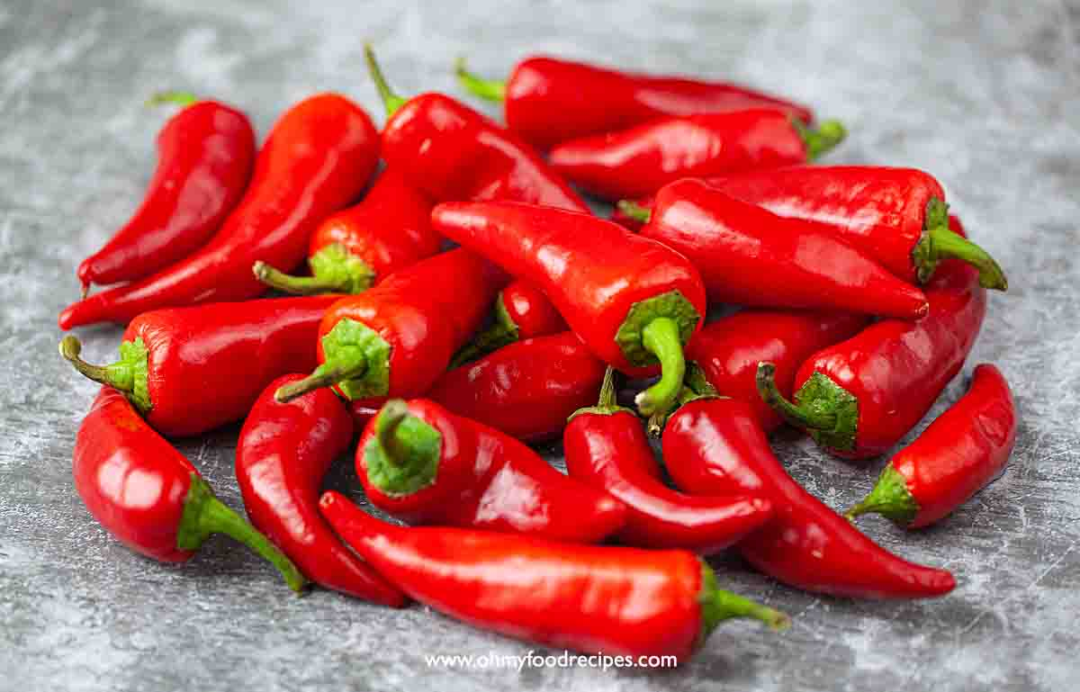 red Fresno chili peppers
