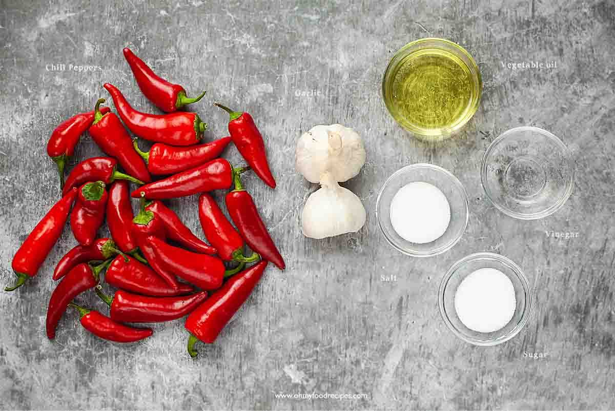 homemade Chinese chili garlic sauce ingredients