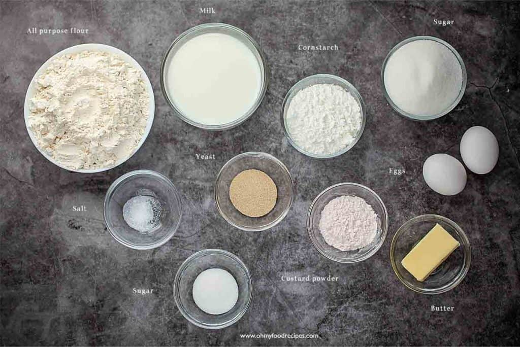 custard buns ingredients