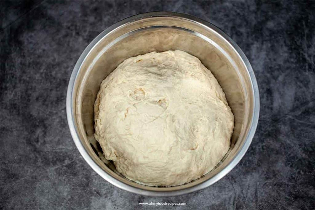 dough rise in the sliver bowl