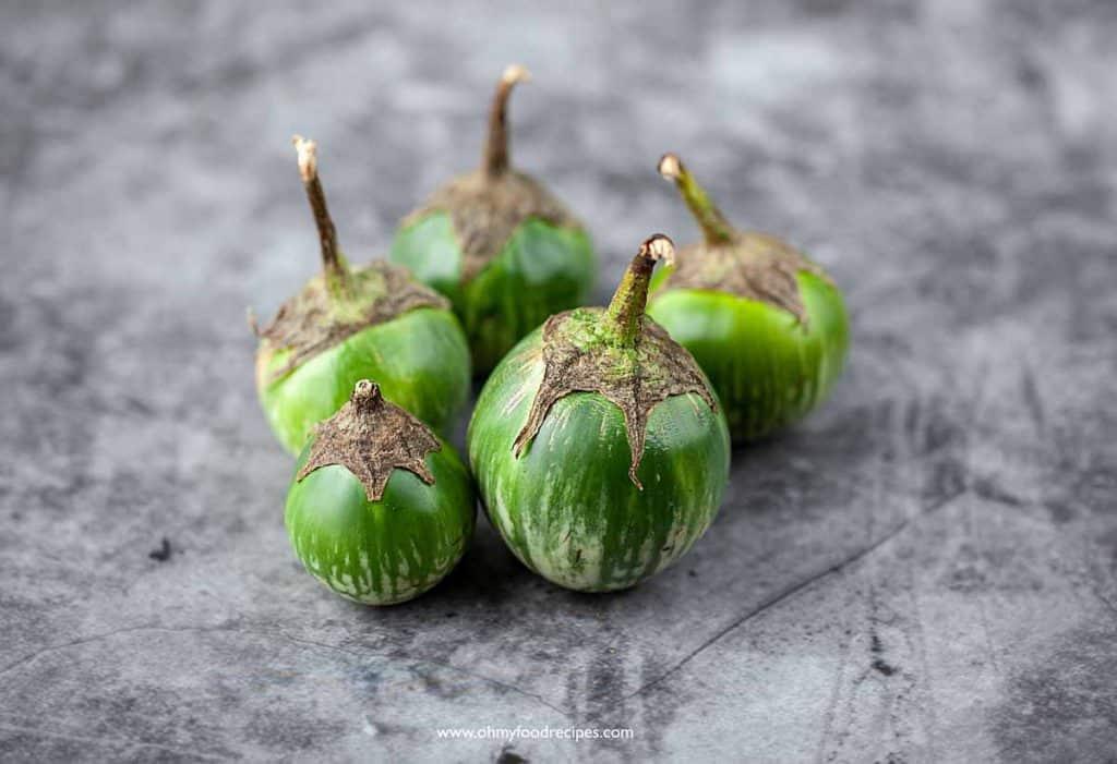 5 small Green Thai eggplants