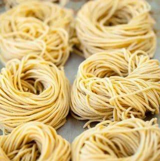 homemade fresh ramen noodles