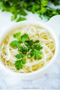 homemade rice noodle