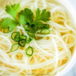 rice noodle with chicken broth