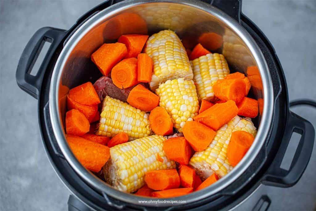 carrot corn pork bones in instant pot