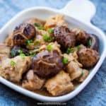 mushroom chicken dish