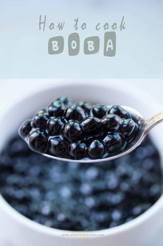 cooked boba on a silver spoon how to cook boba