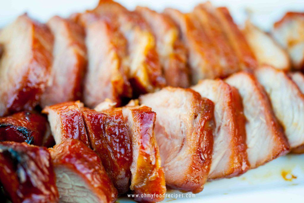 sliced char siu 叉燒 chinese bbq pork