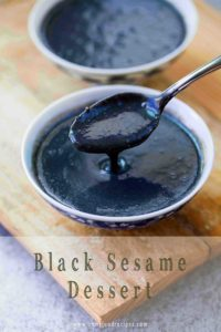 Black sesame soup paste sweet chinese dessert