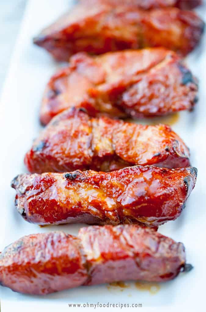homemade baked Chinese bbq pork char siu