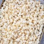 popcorn lay on cookie sheet
