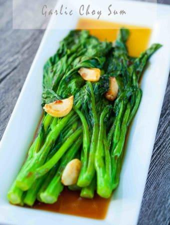 garlic yu choy sum