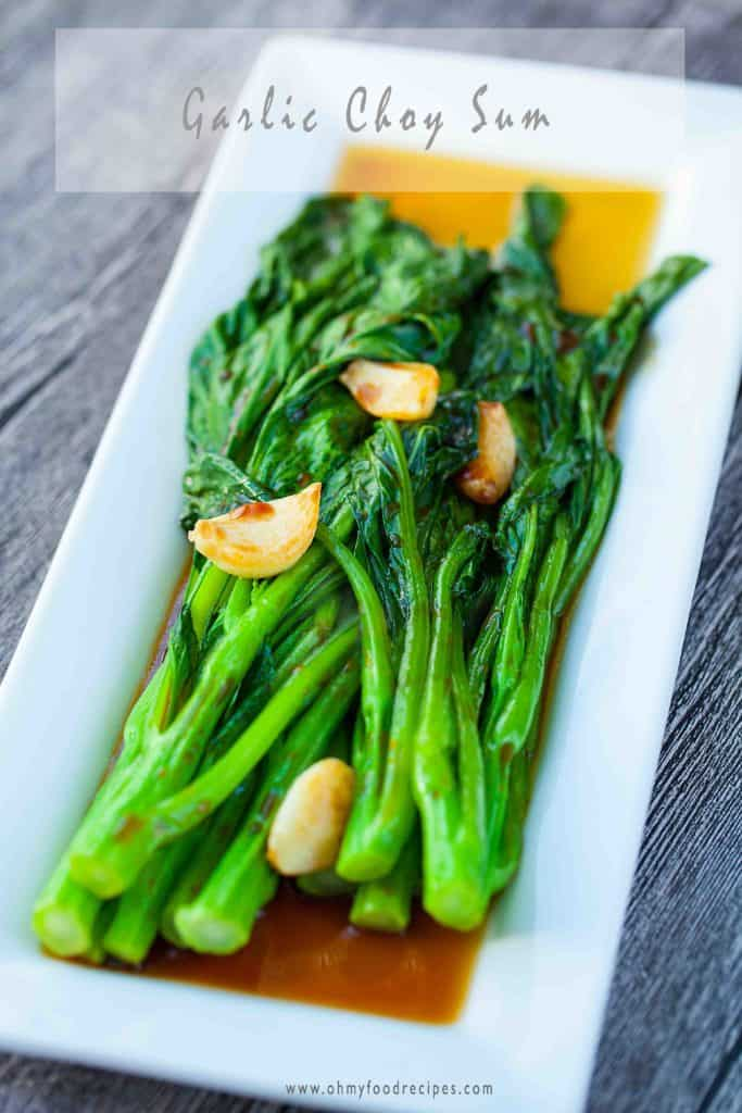 garlic yu choy choy sum recipe
