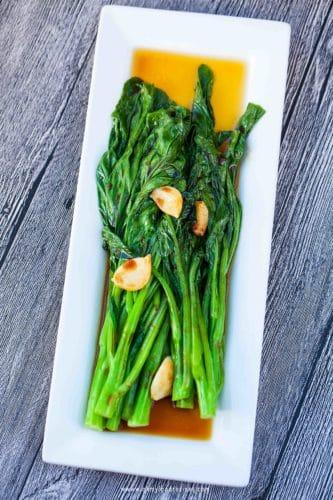 yu choy sum with garlic