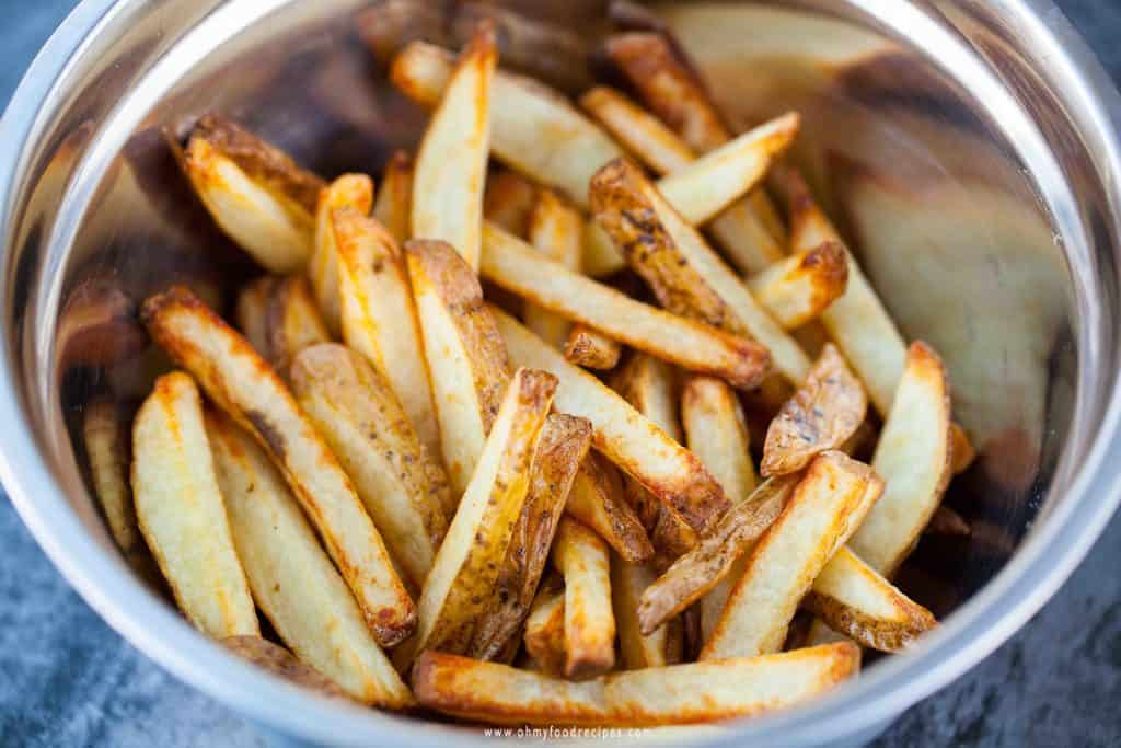 air fryer french fries golden brown
