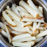 air fryer french fries add 1 tablespoon of vegetable oil