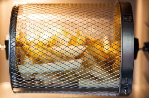 air fryer french fries in air fryer over
