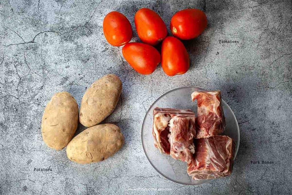 tomato potato pork soup ingredients
