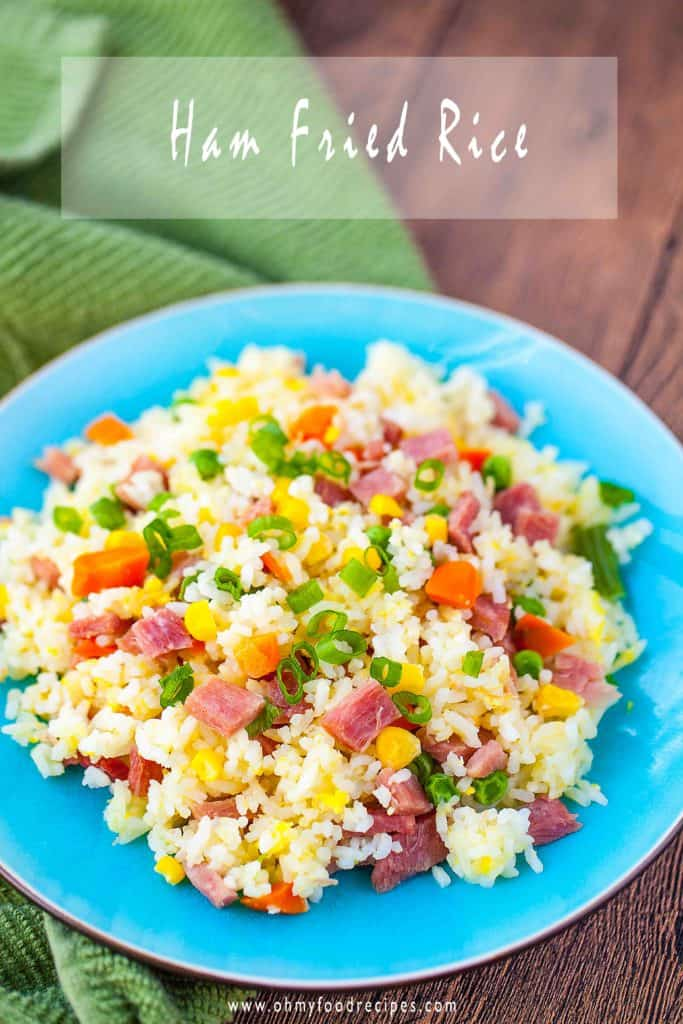 Simple and tasty ham Fried Rice