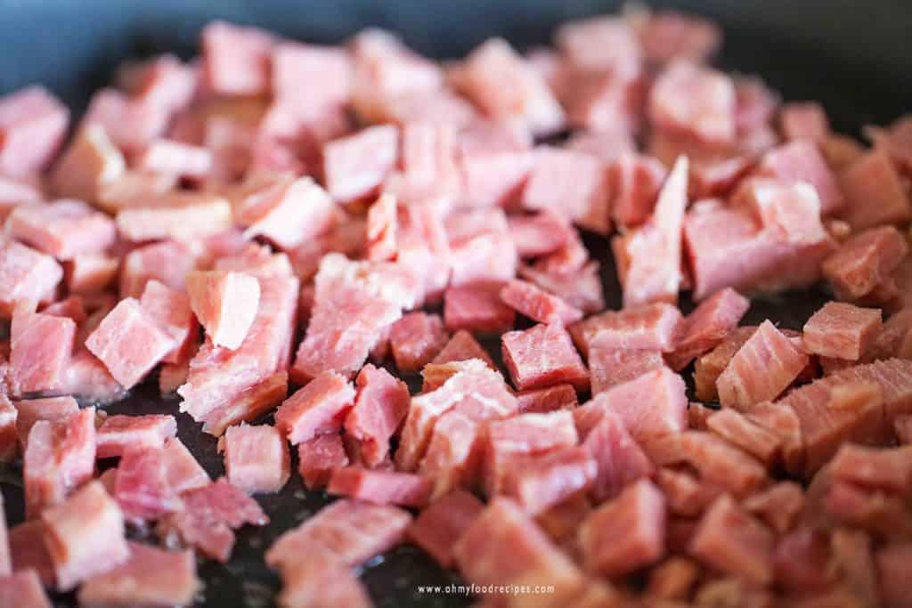 stir fried ham