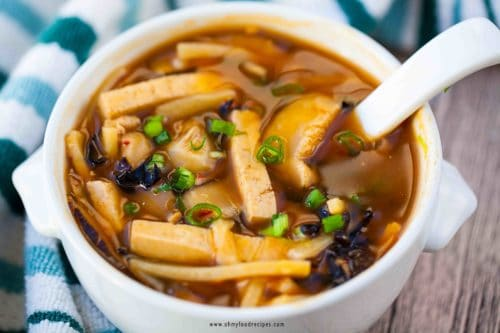 steps by steps hot and sour soup recipe