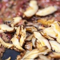 Japchae Korean glass noodles mushroom and meat