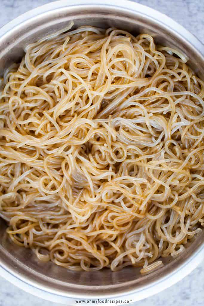 glass noodles seasoned