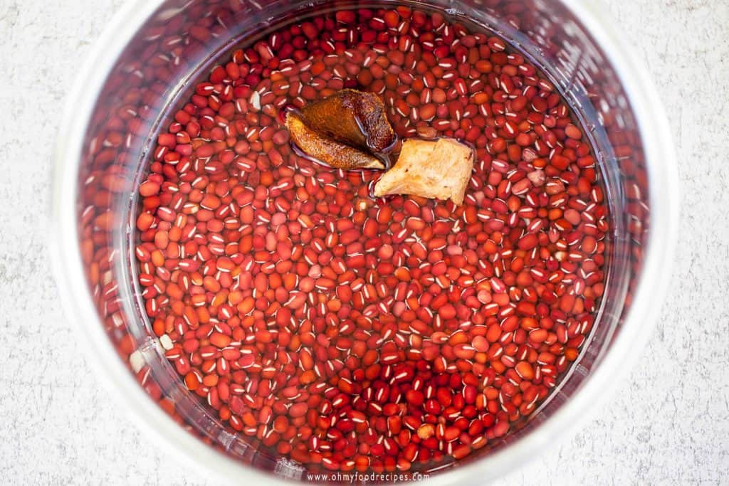 Red Bean dried mandarin peels water into Instant Pot