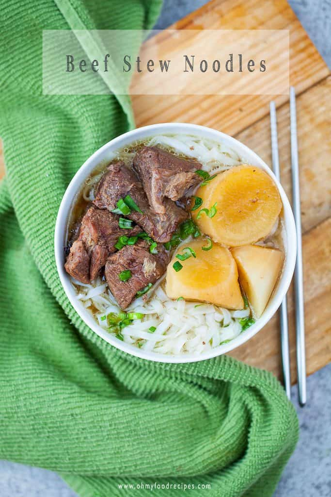 braised beef ho fun noodles soup instant pot recipe