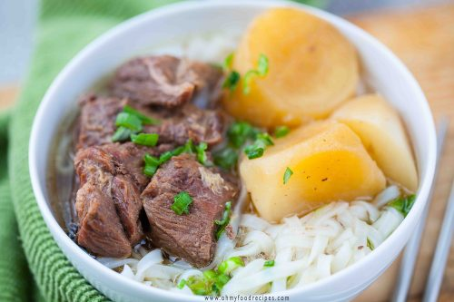 Chinese braised beef noodles soup instant pot recipe