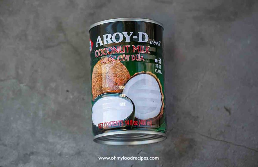 a can of Aroy-D coconut milk