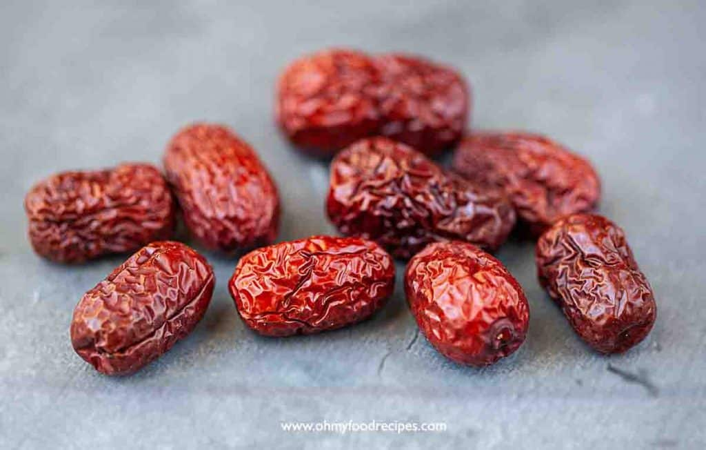 dried Chinese jujube red