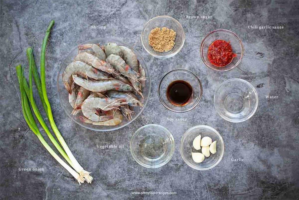 chili garlic shrimp ingredients