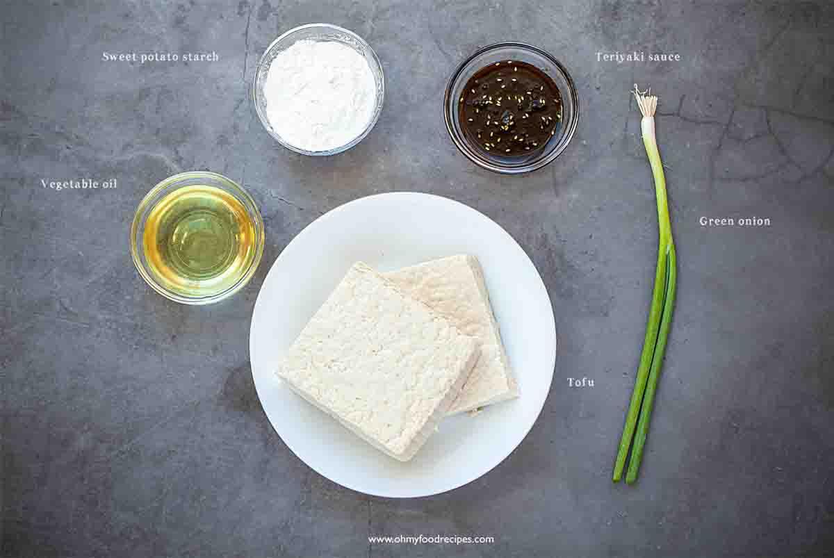crispy bean curd teriyaki ingredients