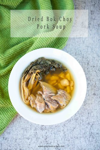 dried bok choy pork soup instant pot