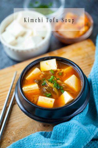 simple kimchi tofu soup