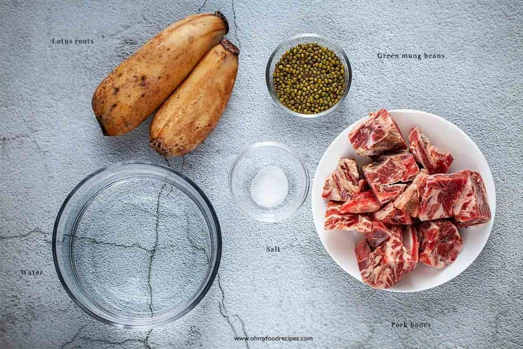 lotus root soup ingredients