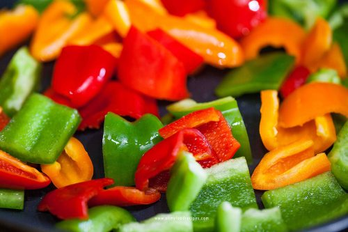 stir fried bell peppers
