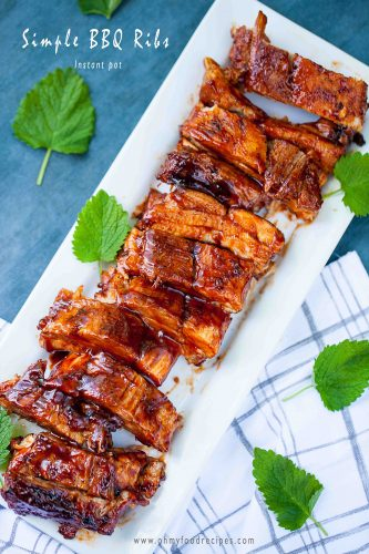 BBQ ribs instant pot recipe