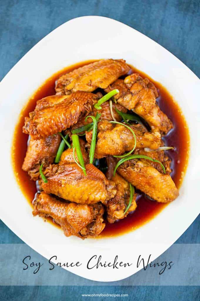 Chinese Soy sauce chicken wings top view