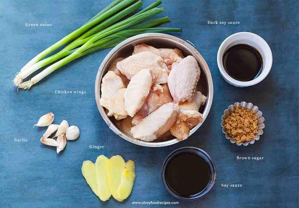 soy sauce wings ingredients