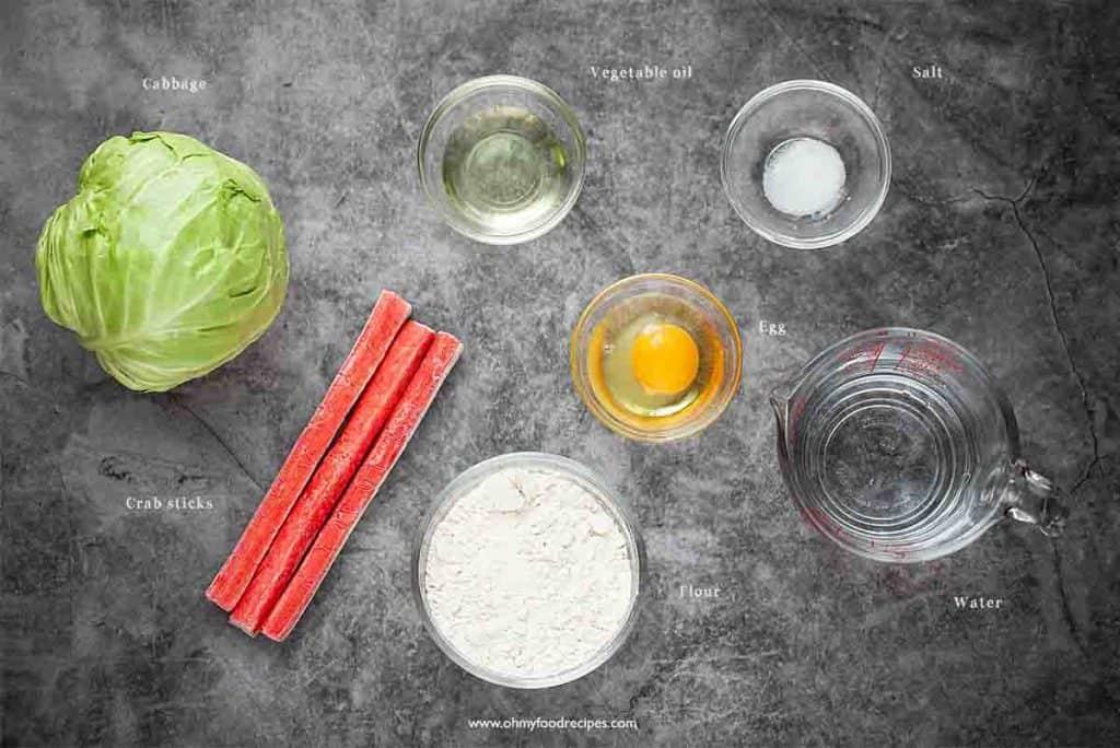 Chinese pancake ingredients