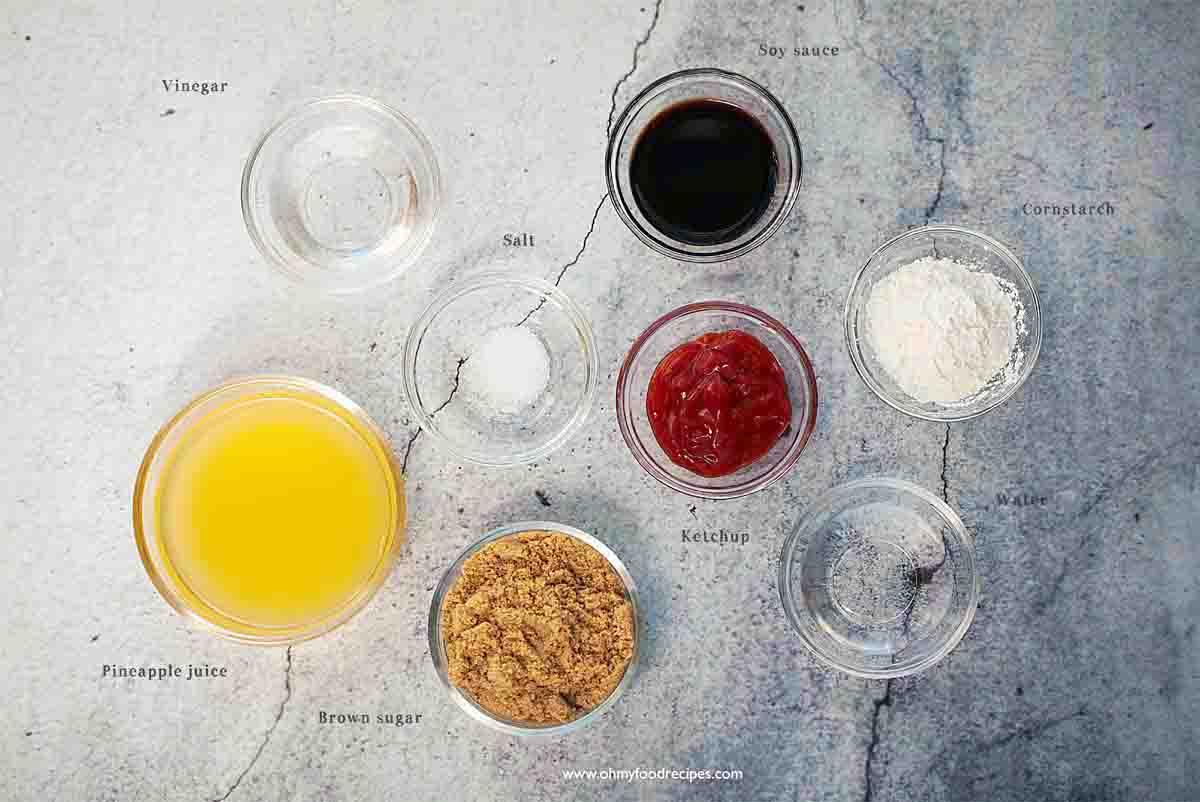 sweet sour sauce ingredients