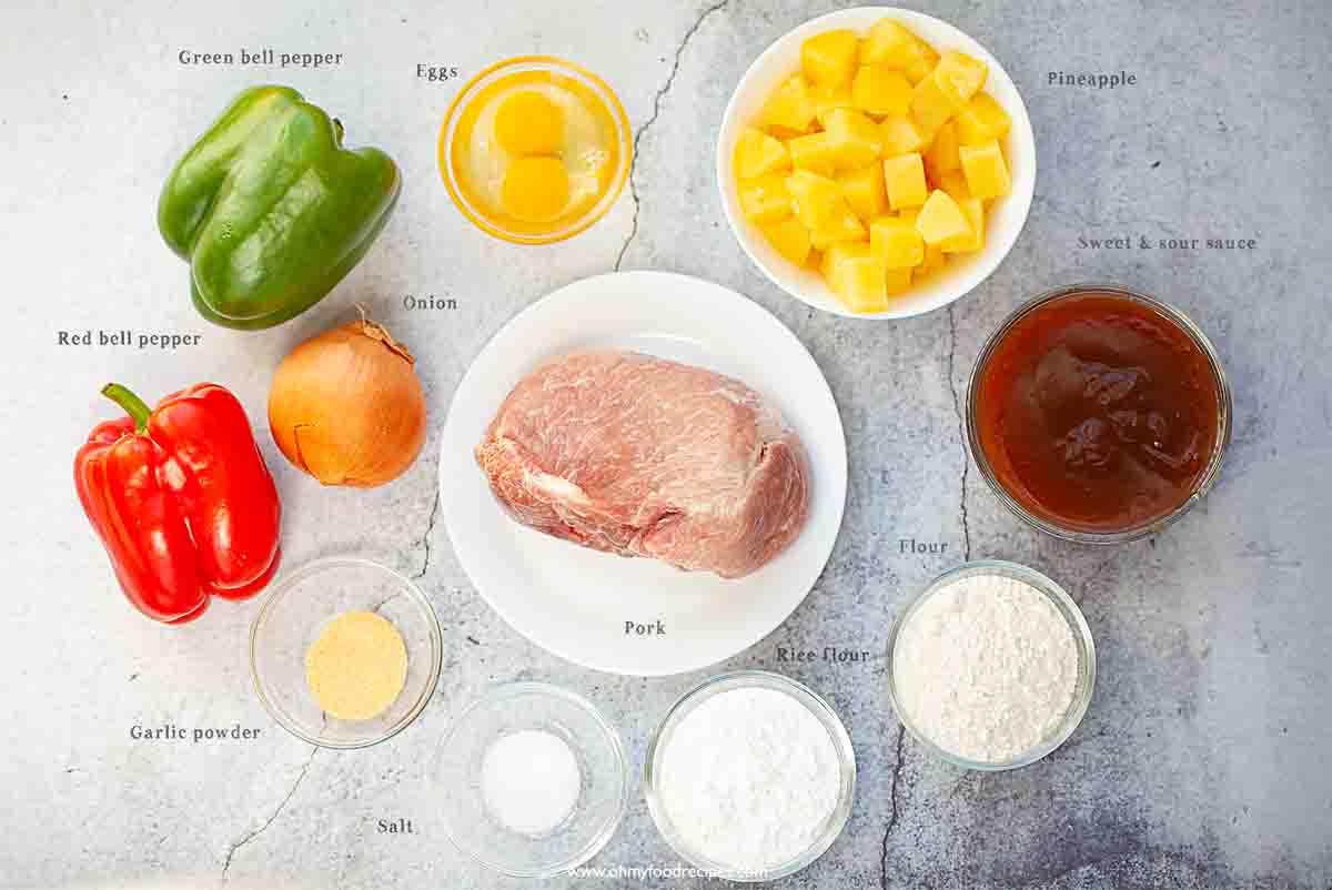 gu lou yuk sweet and sour pork ingredients
