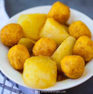 curry fish ball and radish