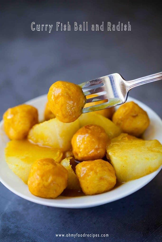 curry fish ball and radish recipe 咖喱魚蛋蘿蔔