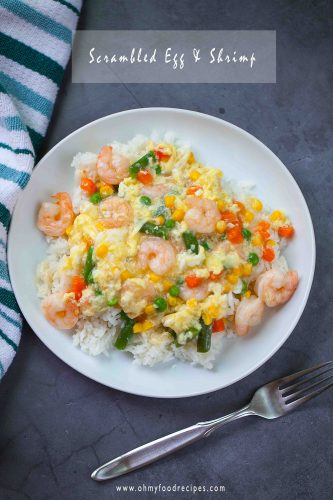scrambled egg and shrimp
