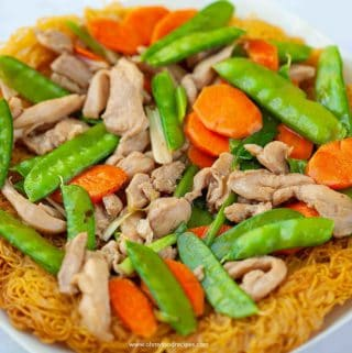 crispy pan fried noodles authentic Chinese food