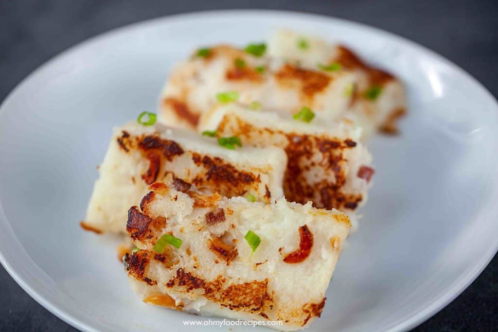 dim sum pan fried lo bak go turnip cake white carrot cake